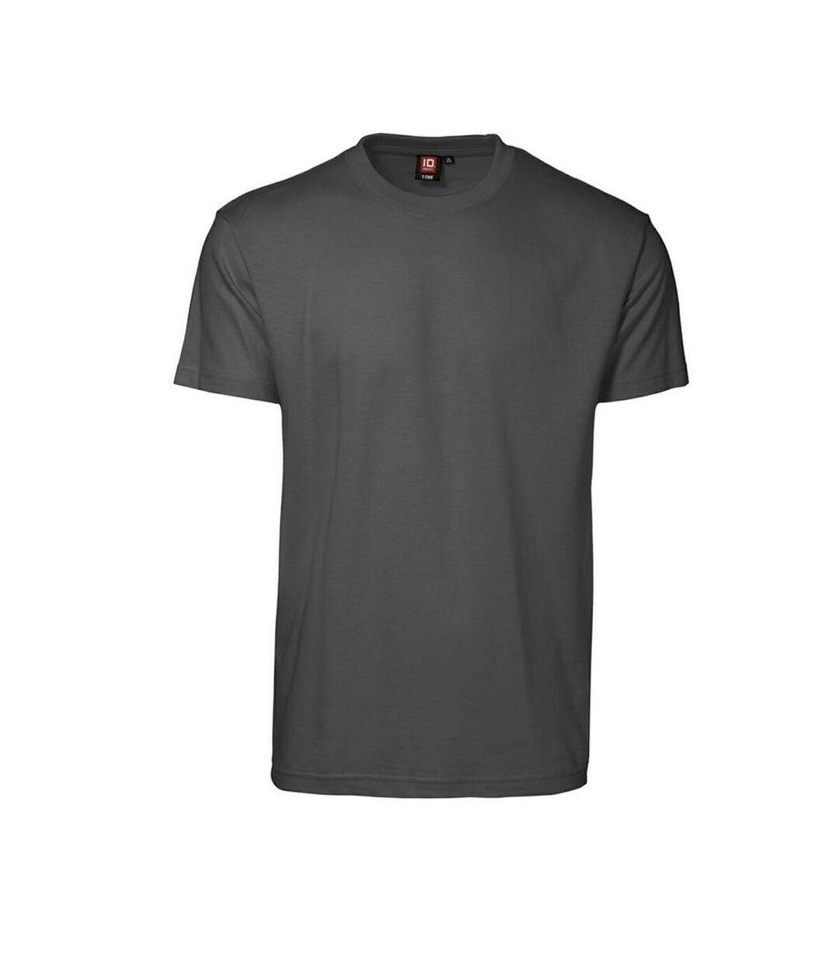ID Mens T-Time Classic Regular Fitting Short Sleeve T-Shirt (Charcoal) - UTID268