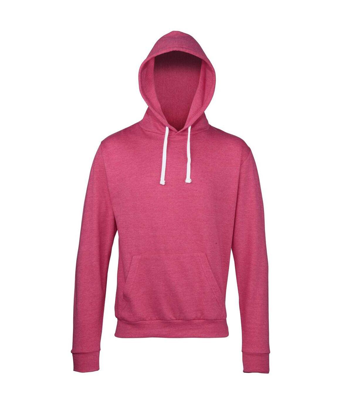 Awdis Adults Unisex Heather Hooded Sweatshirt / Hoodie (Grey Heather) - UTRW168