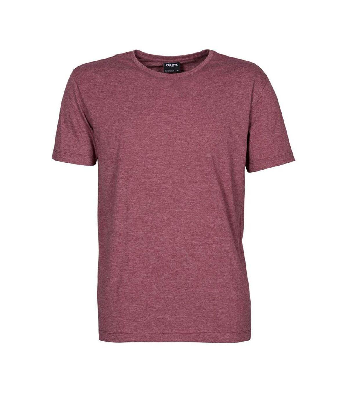 Tee Jays Mens Urban Short Sleeve Melange T-Shirt (Wine Melange) - UTBC3816