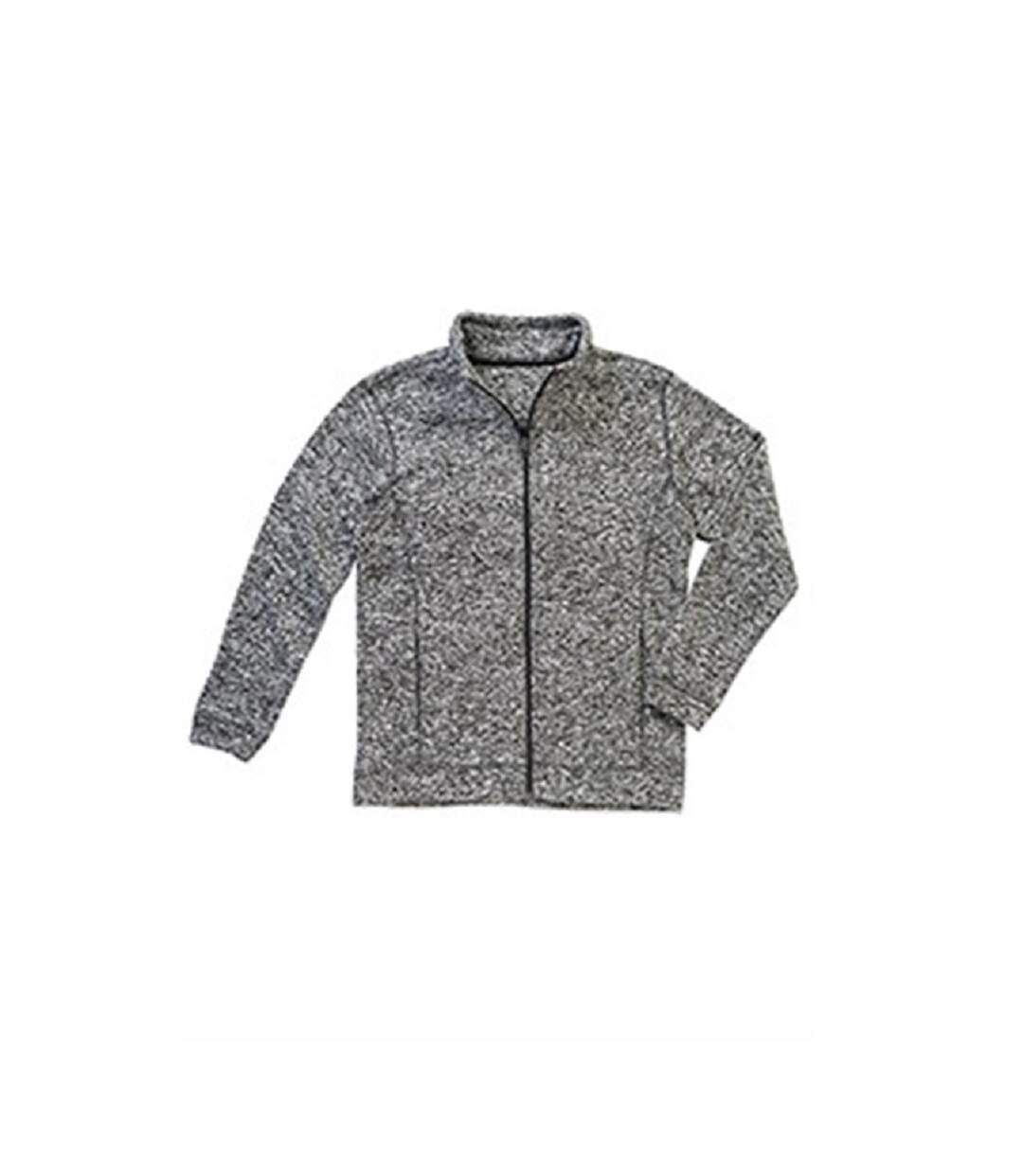 Stedman Mens Active Knitted Fleece (Dk Grey Melange) - UTAB328