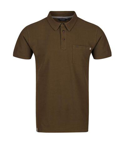 Regatta Mens Barley Polo Shirt (Camo Green) - UTRG4959