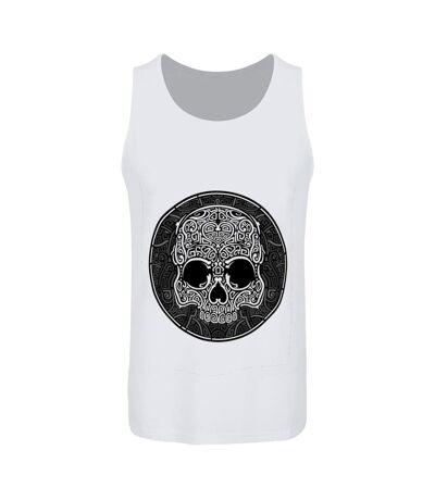 Unorthodox Collective Mens Graphic Skull Vest Top Set (White) - UTGR3841