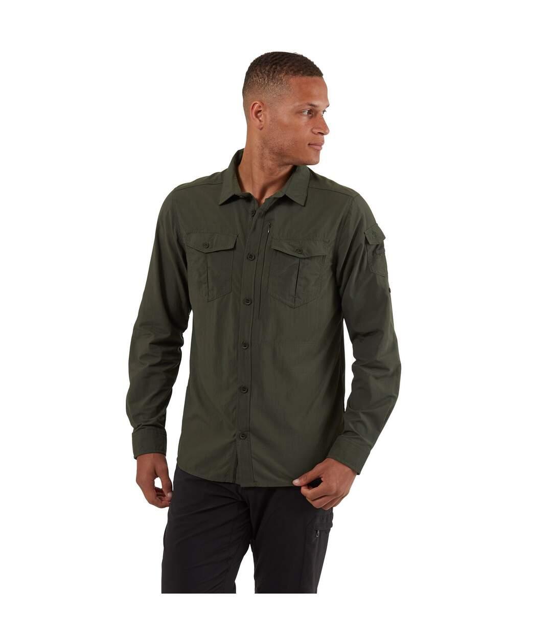 Craghoppers Mens NosiLife Adventure II Long Sleeved Shirt (Dark Khaki) - UTCG1085
