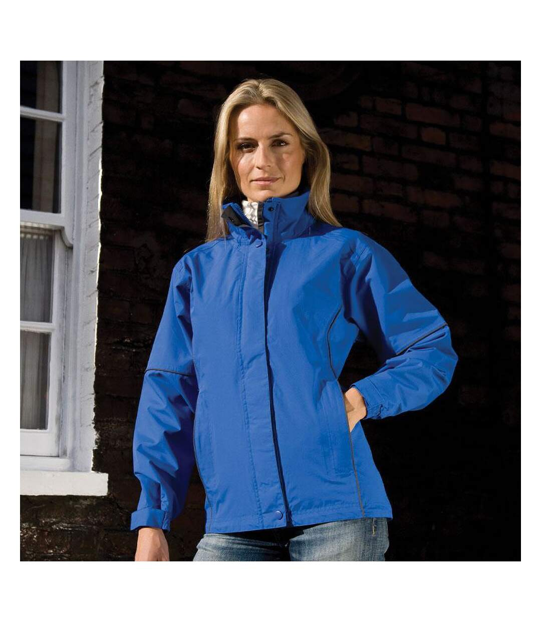 Result Womens/Ladies Urban Outdoor La Femme® Lightweight Technical Jacket (Waterproof & Windproof) (Royal) - UTRW3243