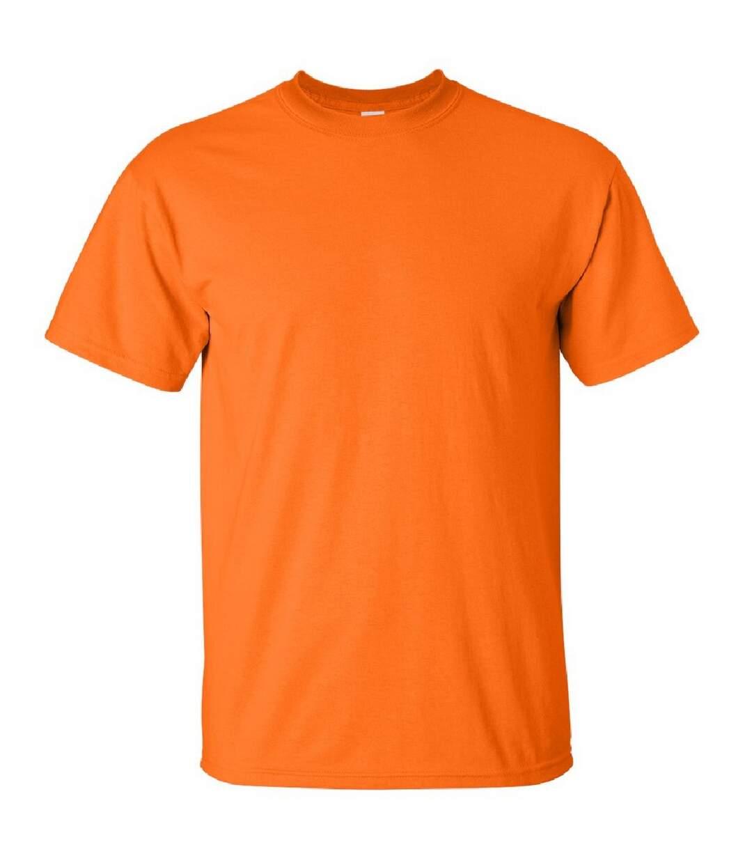 Gildan Mens Ultra Cotton Short Sleeve T-Shirt (Safety Orange) - UTBC475