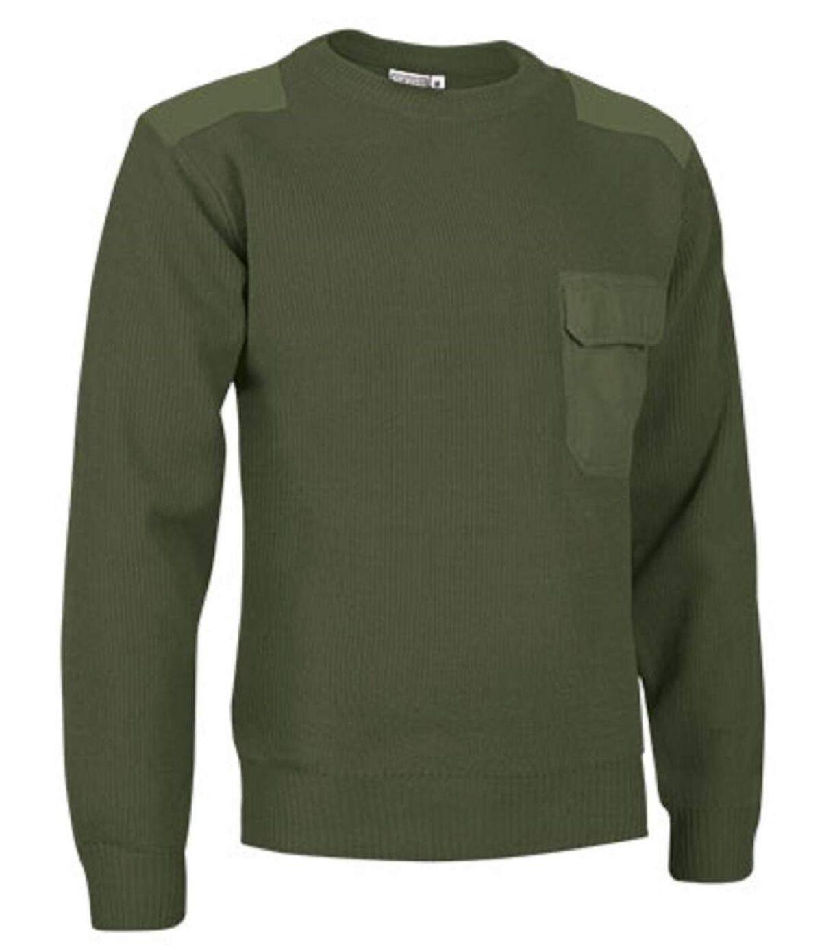 Pull épais - Homme - REF COMANDO - vert militaire