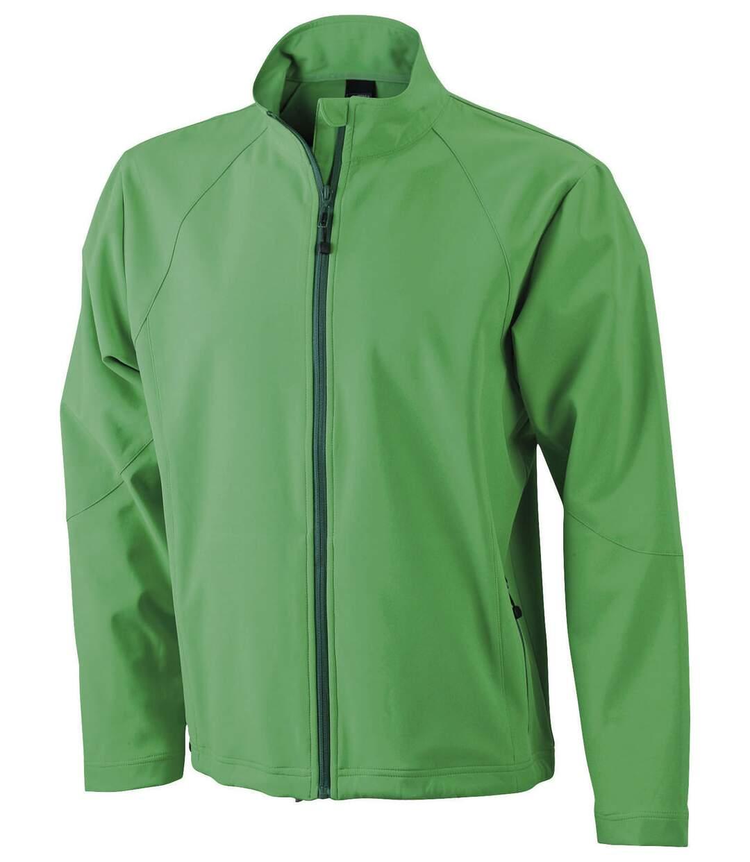 Veste softshell coupe-vent imperméable homme JN1020 - vert