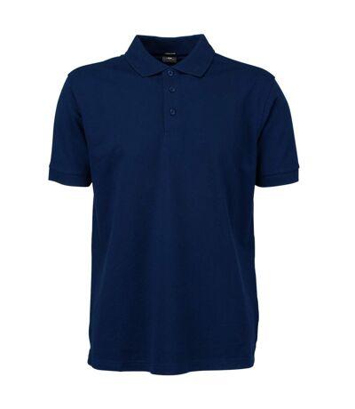 Tee Jays Mens Luxury Stretch Short Sleeve Polo Shirt (Navy Blue) - UTBC3305