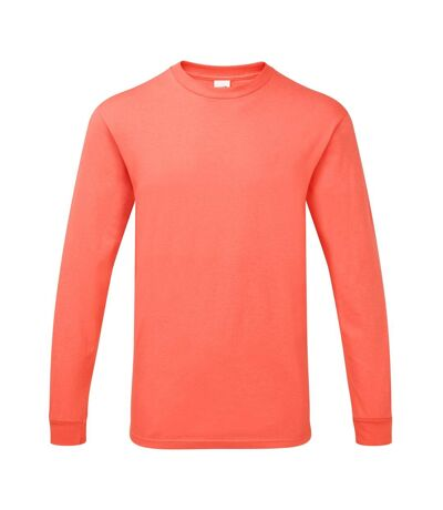 Gildan Mens Hammer Heavyweight Long Sleeve T-Shirt (Coral Silk) - UTPC3068