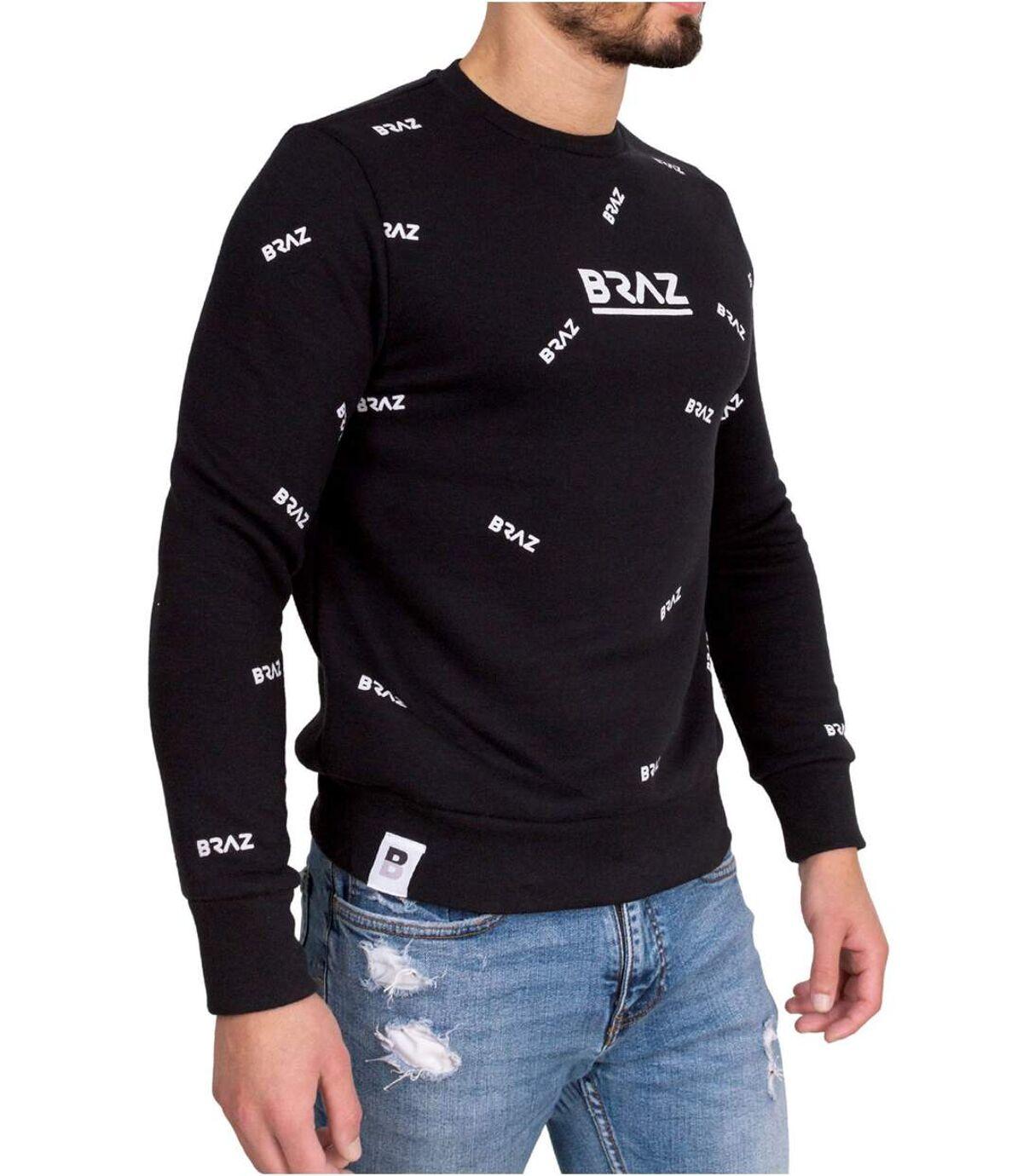Pull coton logo 120971TSH  -  Braz - Homme