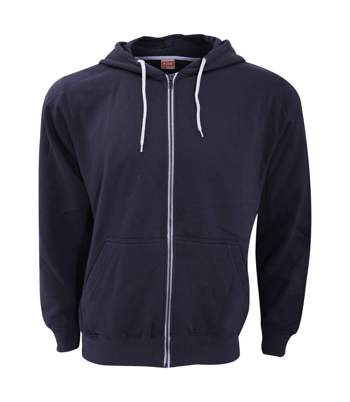 FDM - Sweatshirt à capuche et fermeture zippée - Homme (Bleu marine) - UTBC3184