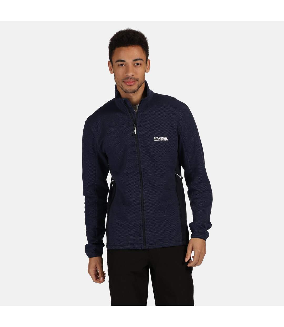Regatta Mens Highton Full Zip Fleece (Navy) - UTRG5040