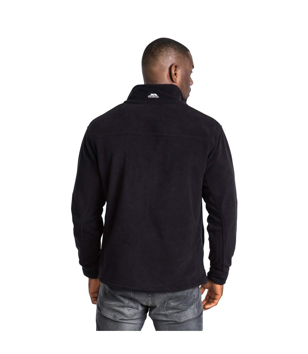 Trespass Mens Bernal Full Zip Fleece Jacket (Black) - UTTP254