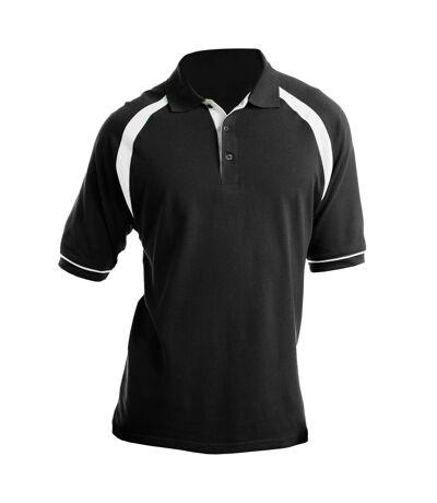 Kustom Kit Oak Hill - Polo à manches courtes - Homme (Noir/Blanc) - UTBC616