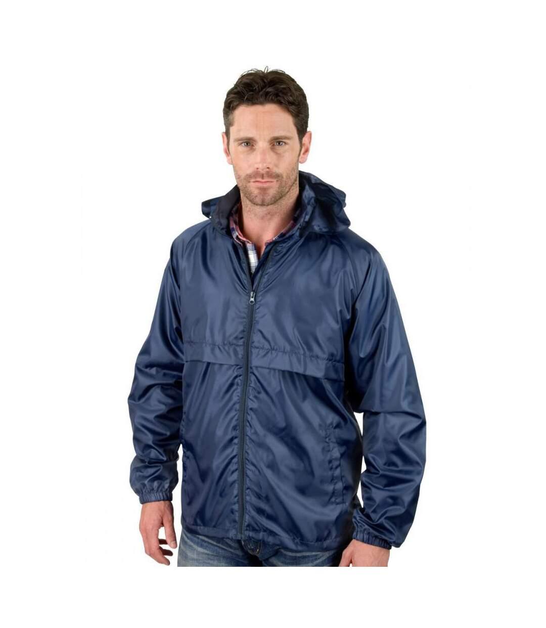 Result Mens Core Adult Windcheater Water Repellent Windproof Jacket (Navy Blue) - UTBC897