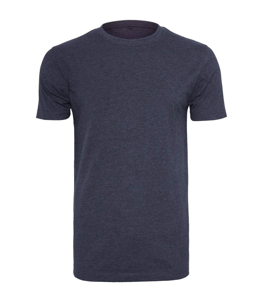 Build Your Brand Mens T-Shirt Round Neck (Navy) - UTRW5815