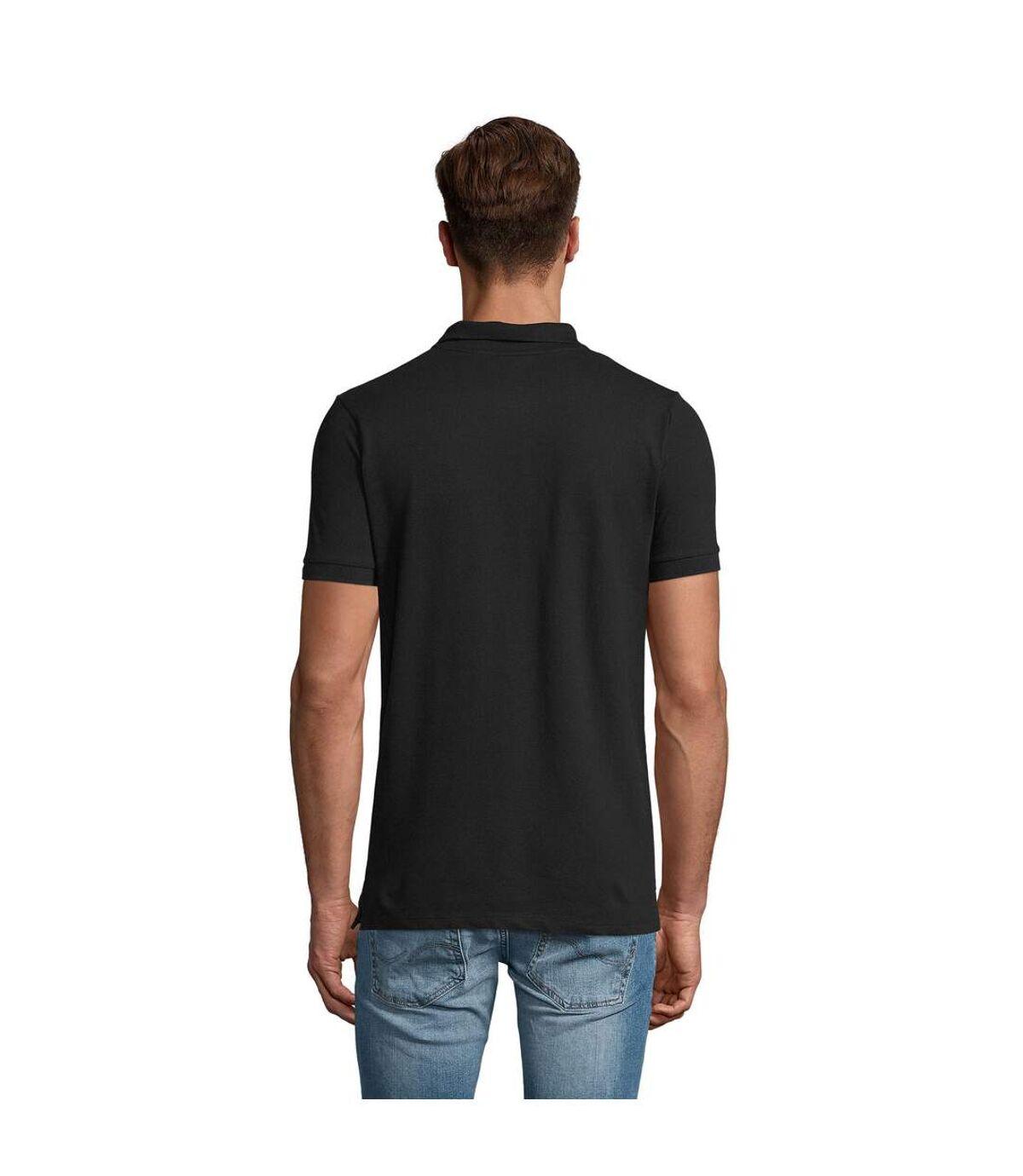 SOLS Mens Phoenix Short Sleeve Pique Polo Shirt (Black) - UTPC2782