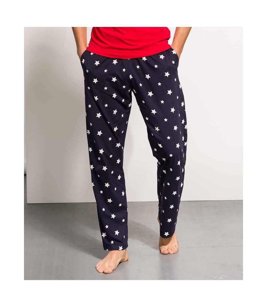Skinni Fit Mens Lounge Pants (Navy/White) - UTRW7996