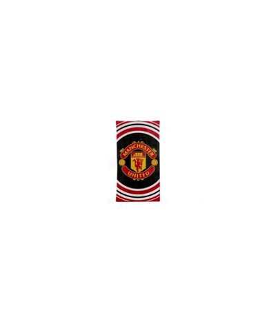 Manchester United FC Official Pulse Design Towel (Black/Red/White) - UTBS1347