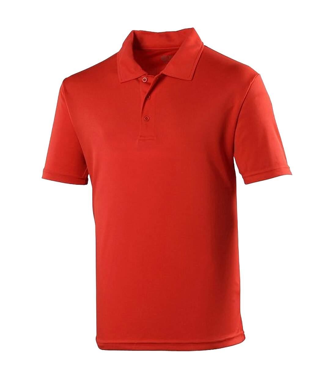 AWDis Just Cool Mens Plain Sports Polo Shirt (Electric Yellow) - UTRW691