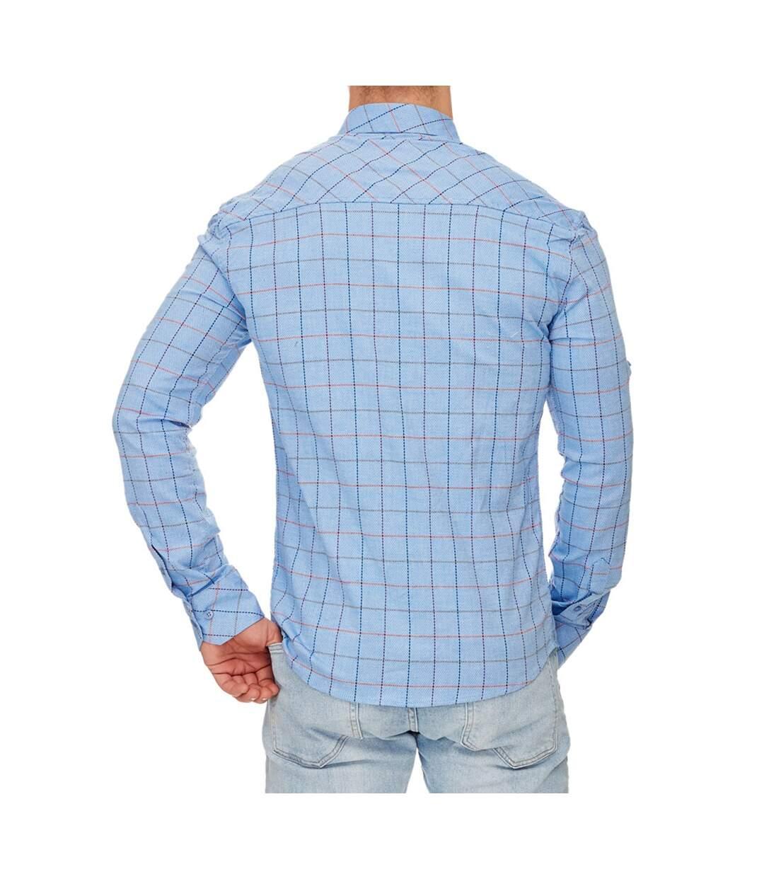 Chemise homme à carreaux Chemise 706 bleu