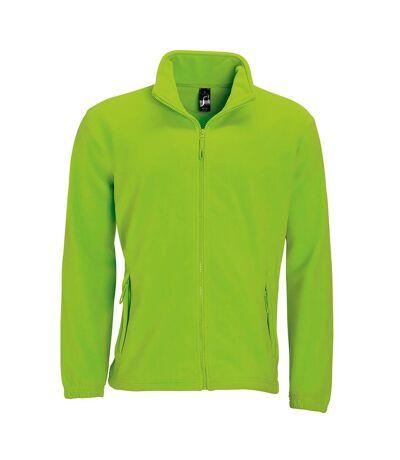 SOLS Mens North Full Zip Outdoor Fleece Jacket (Lime) - UTPC343