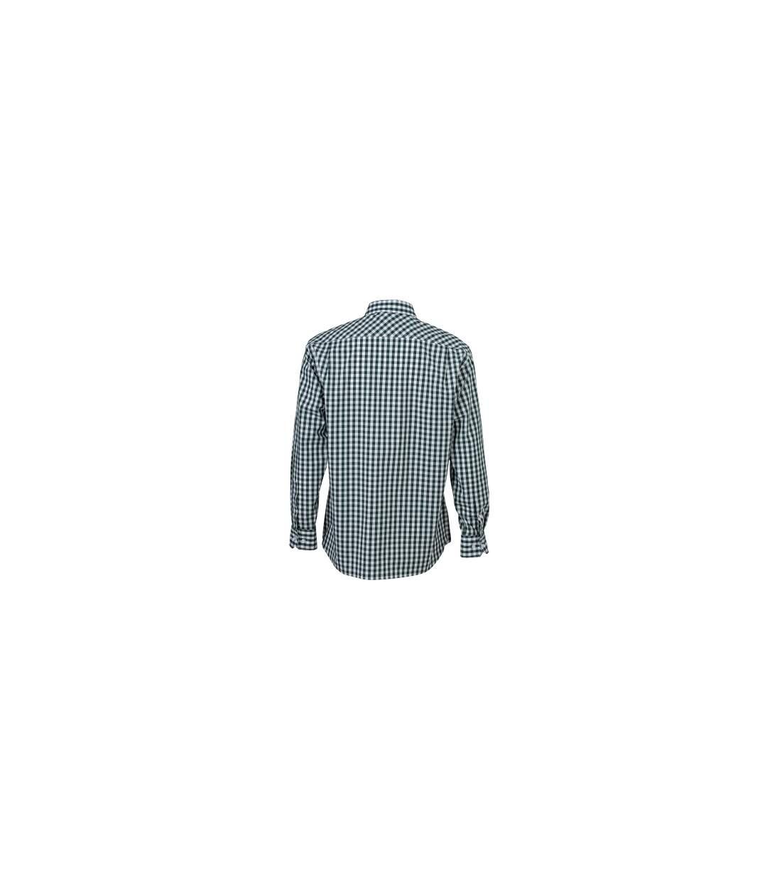 chemise manches longues carreaux vichy HOMME JN617 - vert foncé
