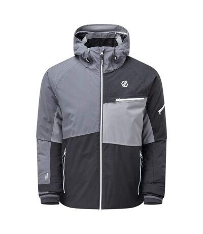 Dare 2B Mens Supercell Waterproof Ski Jacket (Black/Ebony Grey) (XXS) - UTRG5320