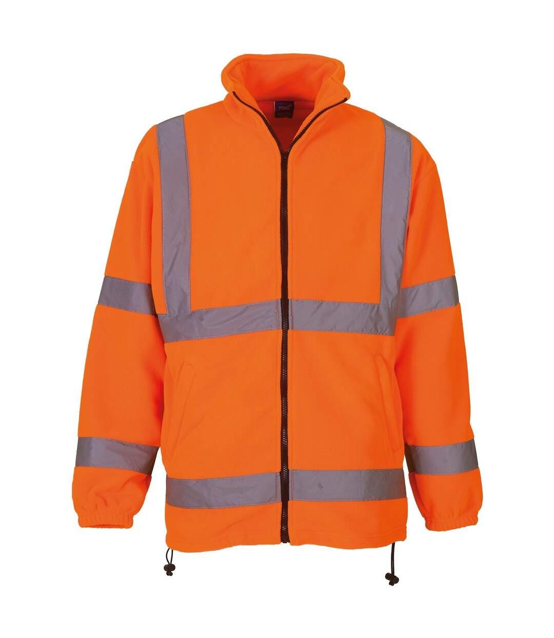Yoko Mens Hi Vis Heavyweight Fleece Jacket (Pack of 2) (Orange) - UTRW6875