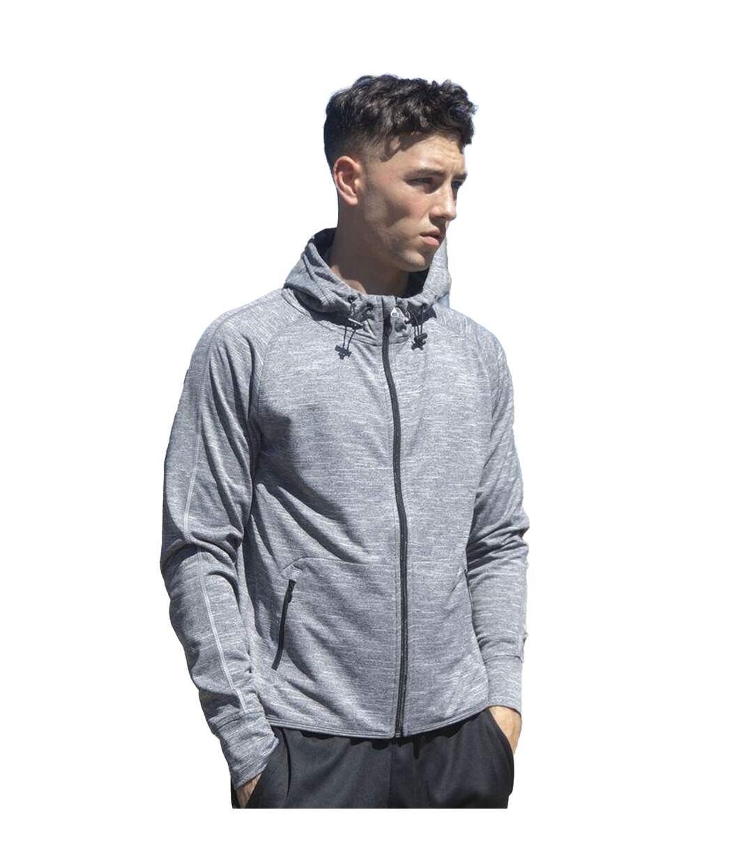 Tombo Teamsport - Sweatshirt Léger À Capuche Et Fermeture Zippée - Homme (Bleu marine) - UTRW4453