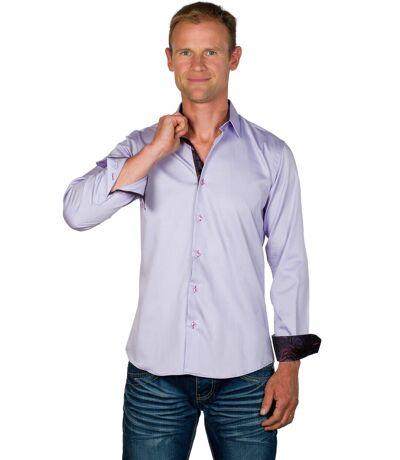 Chemise Coupe Ajustée Coton Lilas Tom