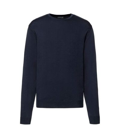 Russell Mens Cotton Acrylic Crew Neck Sweater (French Navy) - UTPC3139