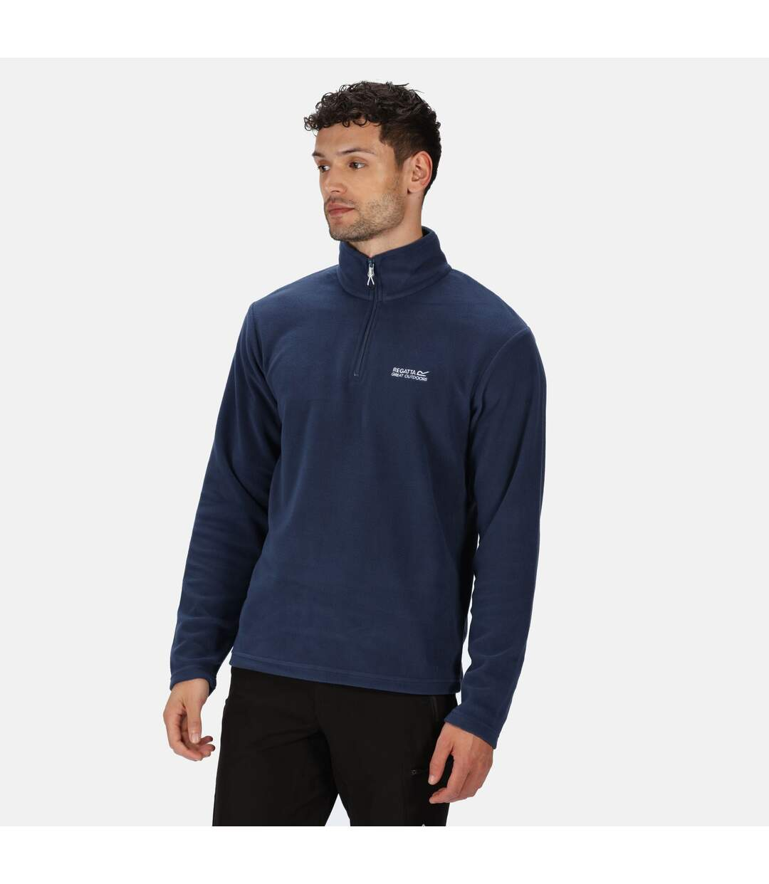 Regatta Great Outdoors Mens Thompson Half Zip Fleece Top (Brunswick Blue) - UTRG1390