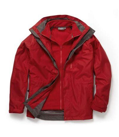 Craghoppers Mens Expert Kiwi 3 In 1 Waterproof Jacket (Red/Red) - UTCG947