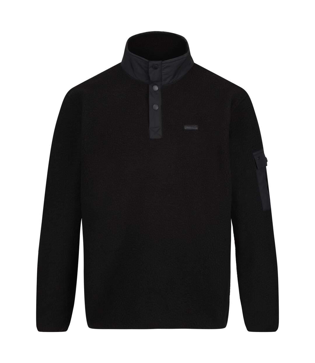 Regatta Mens Cormac Heavyweight Button Neck Fleece Sweater (Black) - UTRG4600
