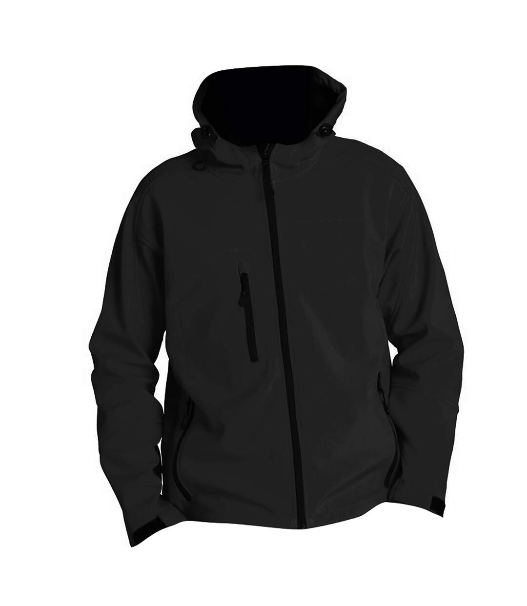 SOLS Mens Replay Hooded Soft Shell Jacket (Breathable, Windproof And Water Resistant) (Black) - UTPC410