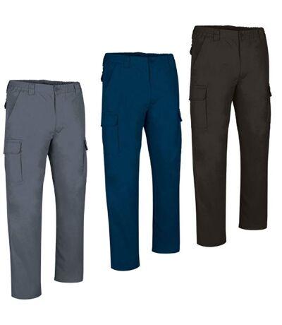 Lot 3 pantalons de travail homme - FORCE - bleu marine gris et noir