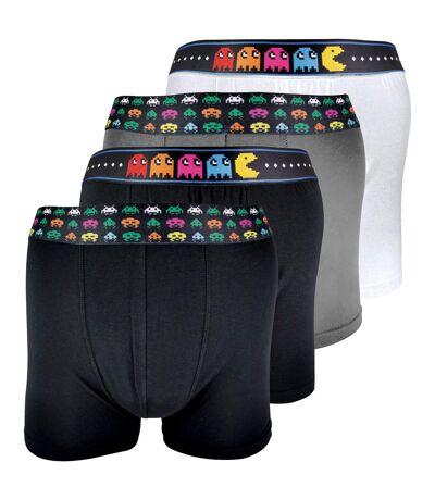 4 Pk Mens Cotton Novelty Retro Gaming Boxer Shorts