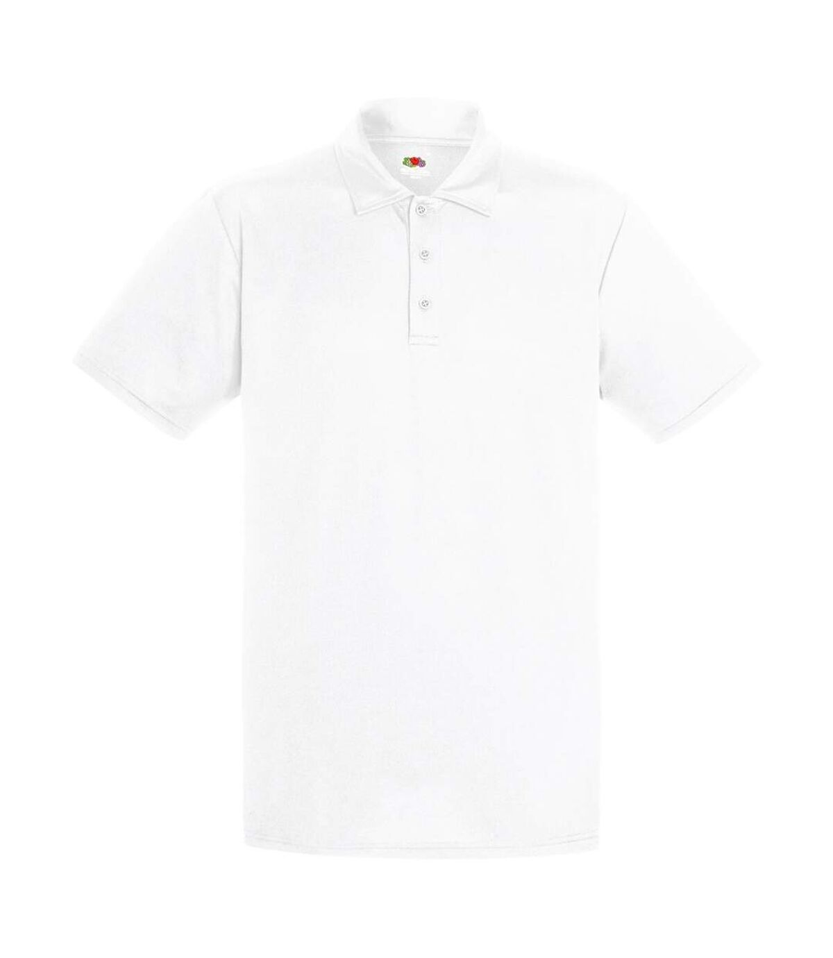 Fruit Of The Loom Mens Short Sleeve Moisture Wicking Performance Polo Shirt (White) - UTBC3479