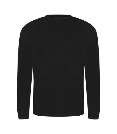 AWDis Mens Long Sleeve Tri-Blend T-Shirt (Solid Black) - UTPC2975