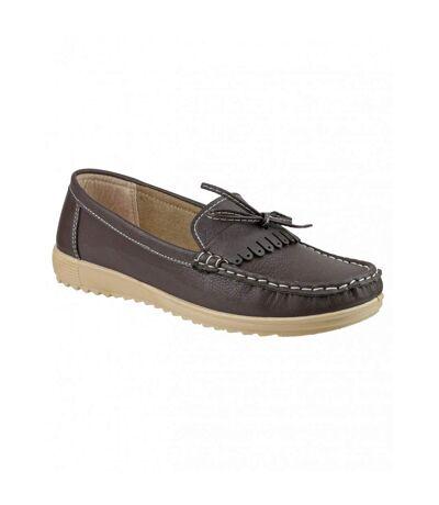 Amblers Elba Ladies Summer Shoe / Womens Shoes (Brown) - UTFS2237