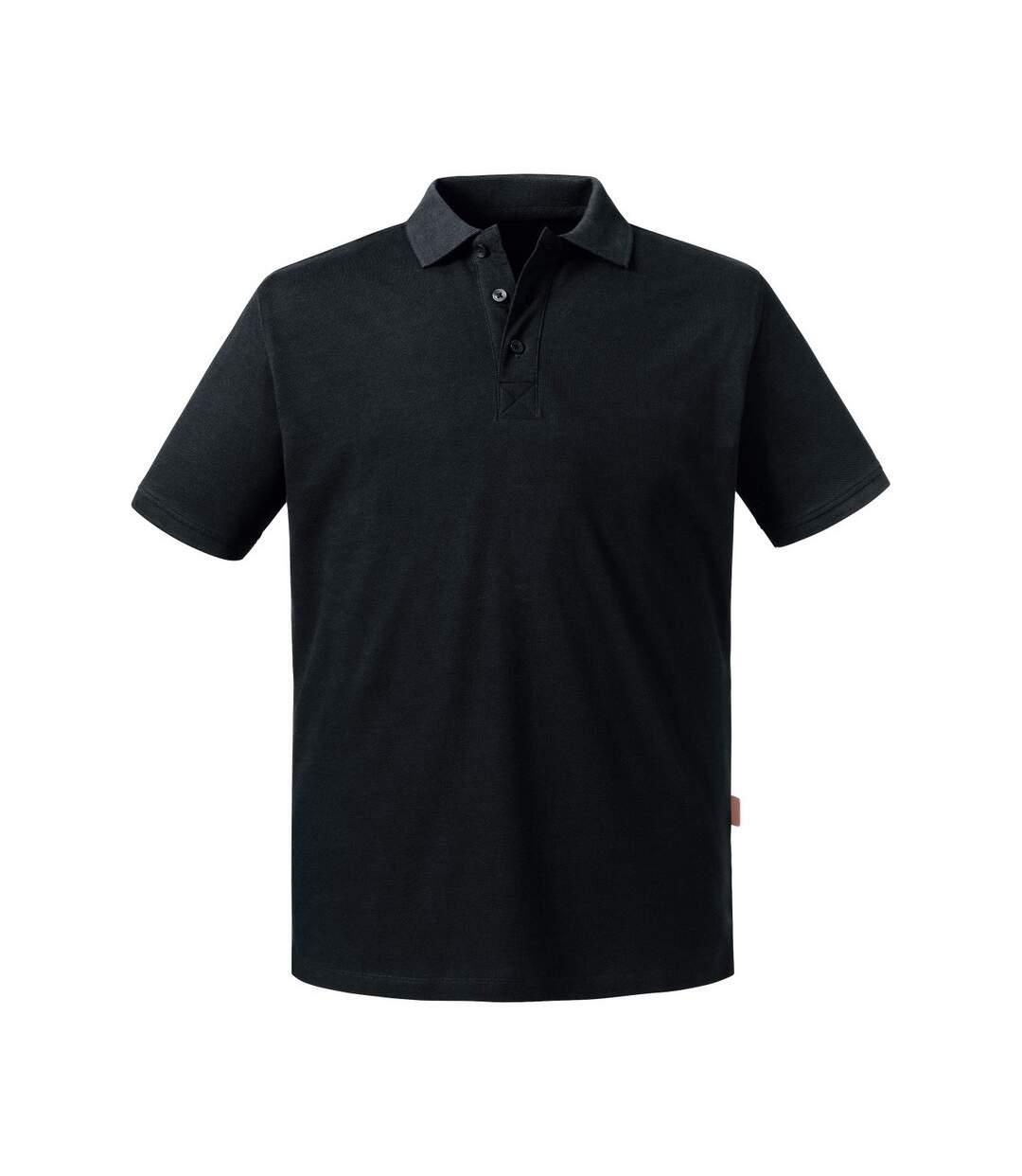 Russell Mens Pure Organic Polo (Black) - UTBC4664