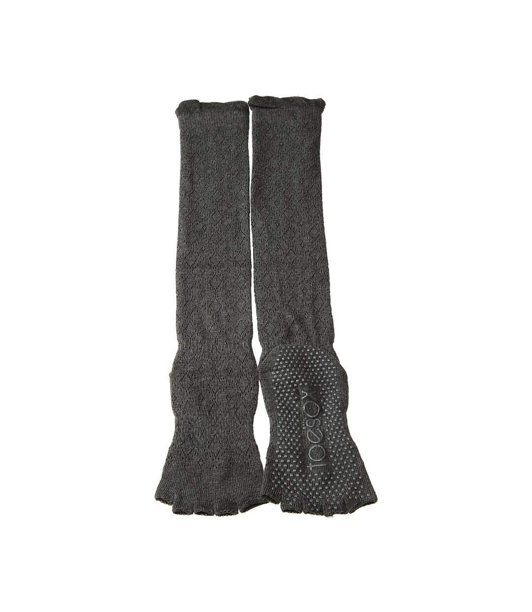 Dégagement Chaussette Hautes 1 paire Anti dérapante Sans bouclette Jacquard Danse Chaude Coton bio Gris foncé dsf.d455nksdKLFHG