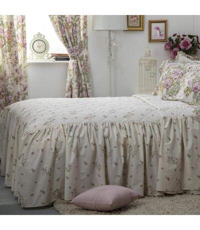 Belledorm - Couvre-lit ROSE BOUTIQUE (Ivoire/Rose/Vert) - UTBM275