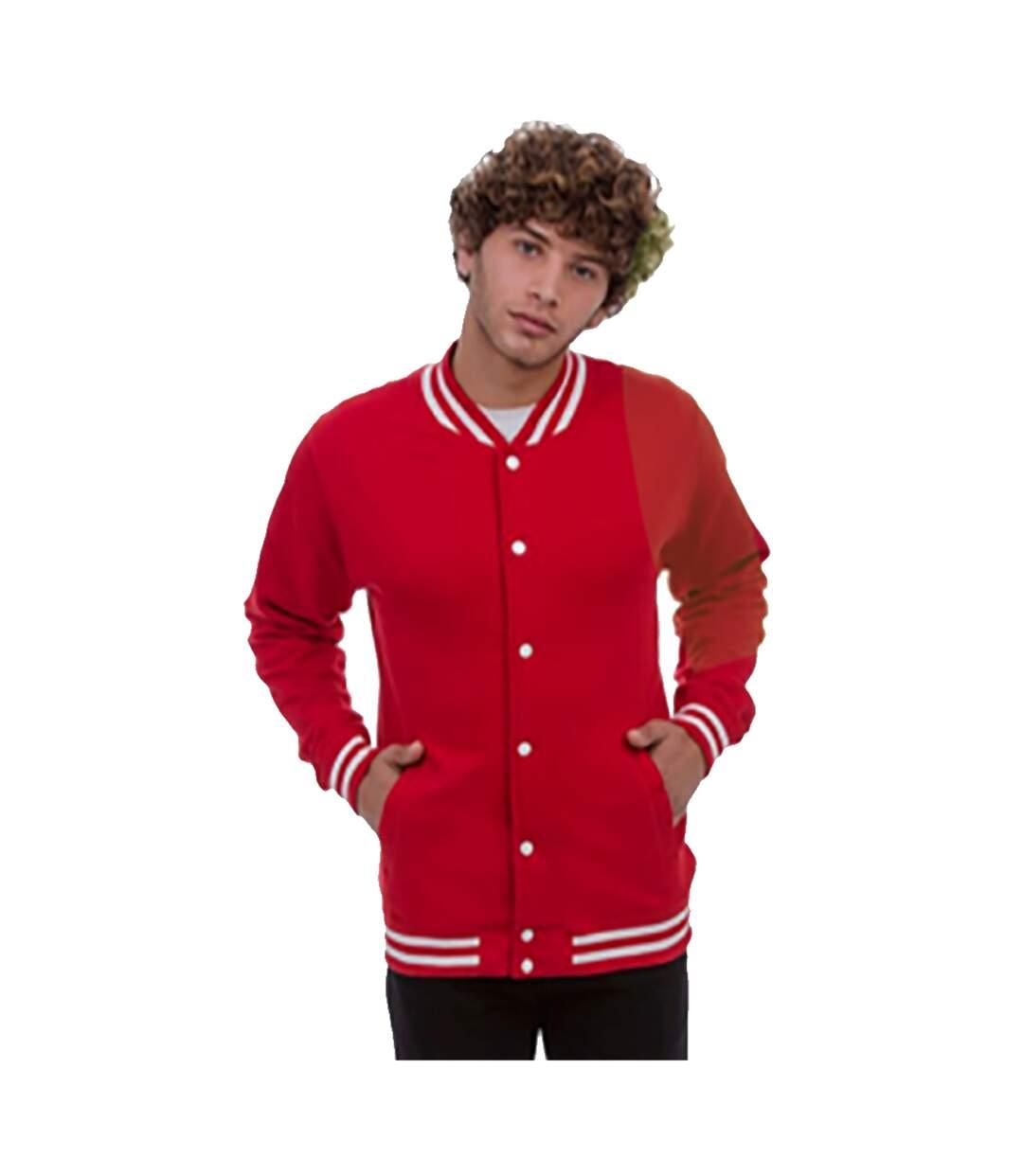 Awdis Adults Unisex College Varsity Jacket (Fire Red) - UTRW174