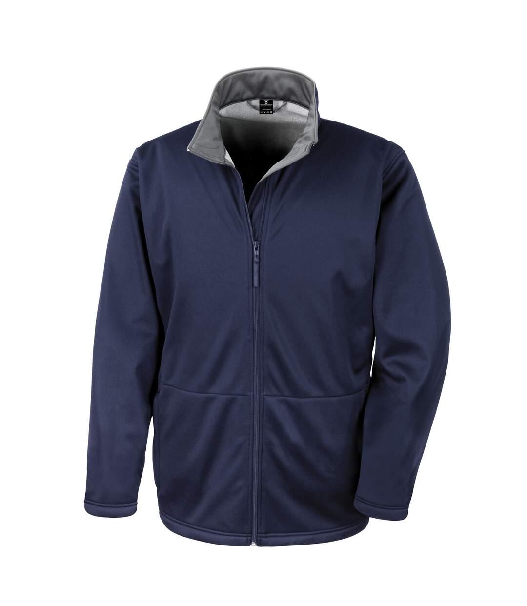 Result Core Mens Soft Shell 3 Layer Waterproof Jacket (Black) - UTBC904