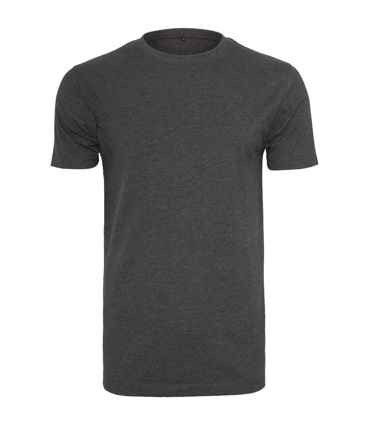 Build Your Brand Mens T-Shirt Round Neck (Charcoal) - UTRW5815