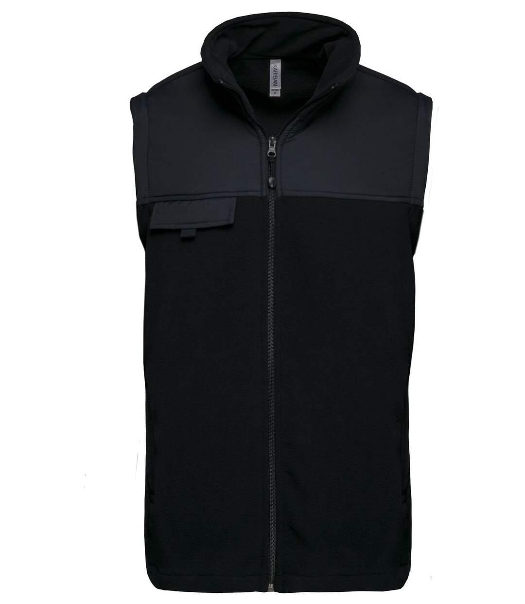 Veste polaire manches amovibles - K9105 - noir