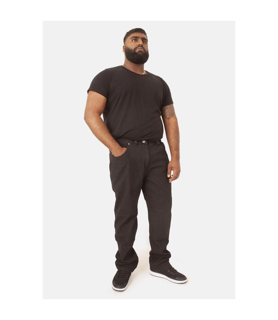 Duke London Mens Kingsize Balfour Comfort Fit Stretch Jeans (Black) - UTDC139
