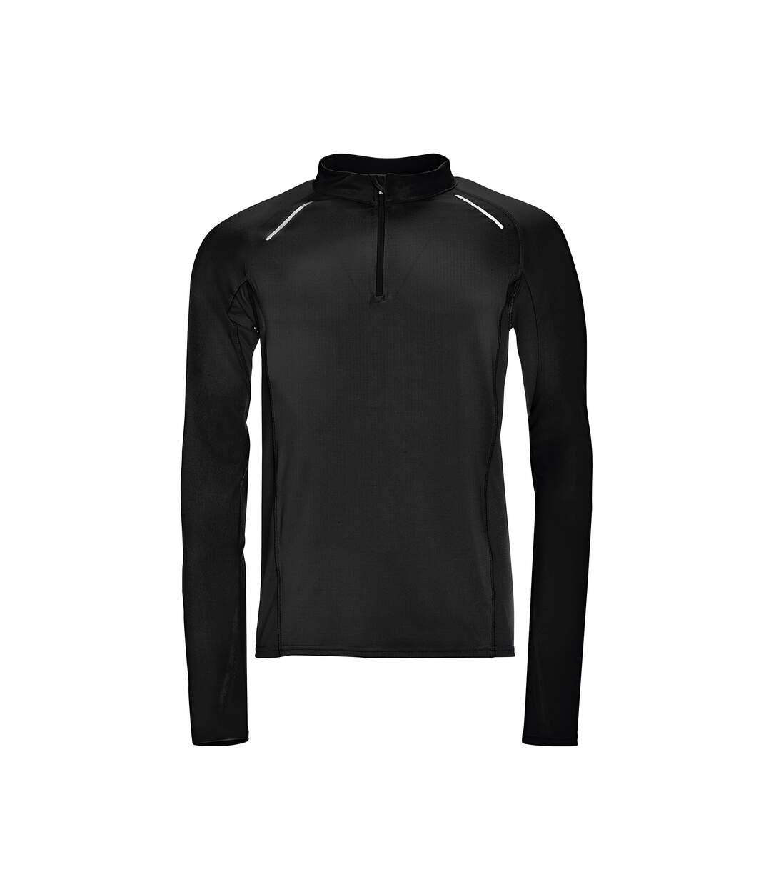 SOLS Mens Berling Long Sleeve Zip Neck Sports Top (Black) - UTPC2602
